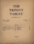 Trinity Tablet, October 22, 1901 by Trinity College