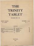 Trinity Tablet, November 12, 1901 by Trinity College
