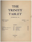 Trinity Tablet, January 21, 1902