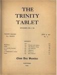 Trinity Tablet, June 25, 1901 by Trinity College