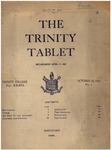 Trinity Tablet, October 23, 1902