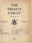Trinity Tablet, February 21, 1903 by Trinity College