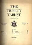 Trinity Tablet, March 21, 1903