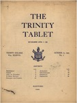 Trinity Tablet, October 17, 1903