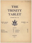 Trinity Tablet, November 7, 1903 by Trinity College