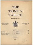 Trinity Tablet, November 28, 1903