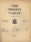 Trinity Tablet, April 30, 1904
