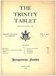 Trinity Tablet, November 9, 1904 by Trinity College