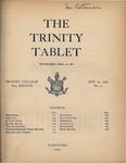 Trinity Tablet, January 24, 1905
