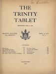 Trinity Tablet, March 13, 1905 by Trinity College