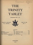 Trinity Tablet, May 20, 1905 by Trinity College