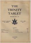 Trinity Tablet, November 9, 1905 by Trinity College