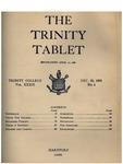 Trinity Tablet, December 20, 1905 by Trinity College
